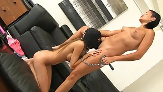 Insolent lesbians go one on one down through-and-through oral XXX fetish