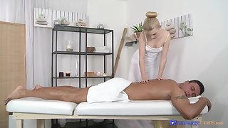 Morose massage leads to flawless sex and cum on light