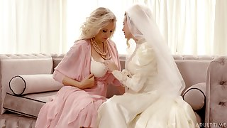 Bride enjoys the mature mother-in-law for a infrequent rounds of ginger beer XXX