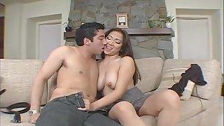 Homemade pellicle of Asian chick Scarlett Ventura getting ass fucked