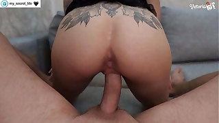 Hot Masked Brunette Deepthroats and Hardcore Sex to Cumshot POV