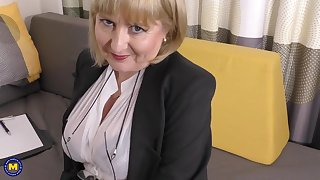 A highly glamour project interview by 57yo handsome Lorna blu