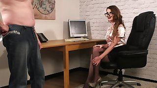 Office MILF wants the guy's dick straightened out CFNM sketch