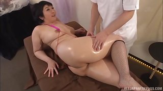 Oiled with reference close by massage leads close by passionate fucking with Yagi Michika