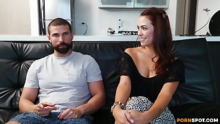 Amateur redhead Francy gets will not hear of pussy licked plus fucked balls deep