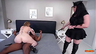 Curvy Babes Angelina Castro And Sara Pierrot Bang A Lucky Muscular Male!