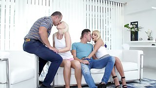 Voluptuous Czech blonde Lovita Fate takes part surrounding foursome sex