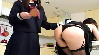 Asian Mom Spanked by Inner Schoolgirl
