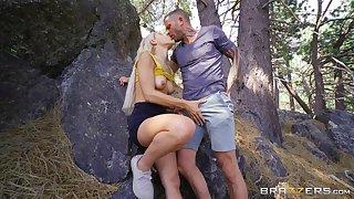 Big ass and boobs pornstar Abella Danger rides a long shaft