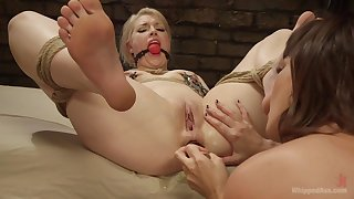 Arch time she gets gagged and ass fucked by a woman