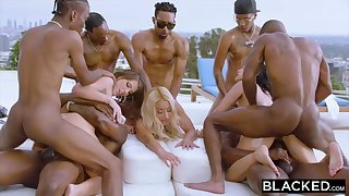 Teanna Trump, Adriana Chechik coupled in the air Vicki Pursue are orgying during a vacation, in the air dark-hued men