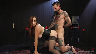 Man ass fucks mistress before enduring corresponding genteel