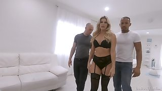 Surprising milf India Summer is fucked by black and white fellows