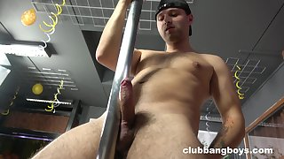 Gay lad reveals his dirty affiliate in a kinky toute seule play